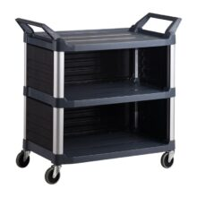 trust-hi5-3-shelf-semi-enclosed-plastic-food-serving-cart-black