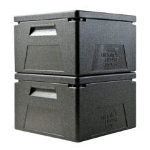 Ισοθερμικό κιβώτιο EPP, για GN2/3, 41.5x40x26.5cm, 27LT, μαύρο, THERMOBOX