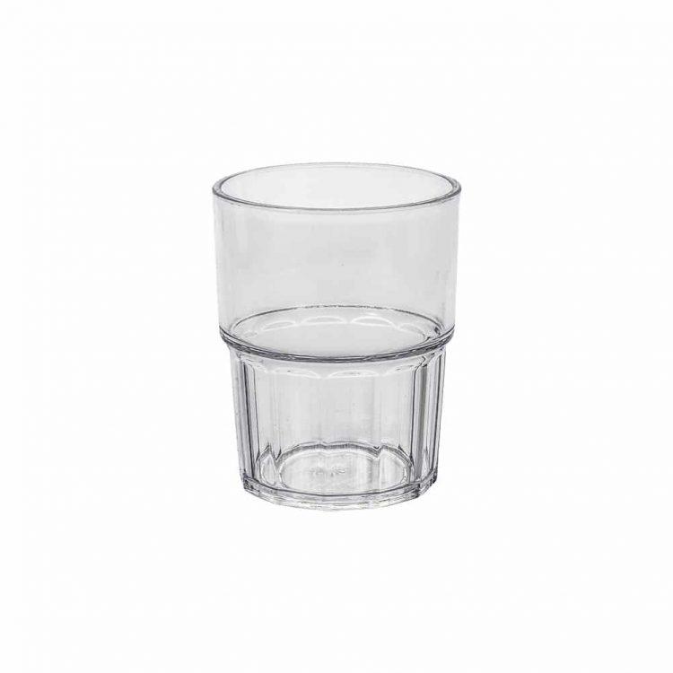εικονα απο Ποτήρι στοιβαζόμενο πλαστικό PC (Policarbonate), διάφανο, 250ml